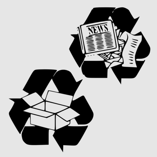 Recycle Center Labels 3D Print 151347