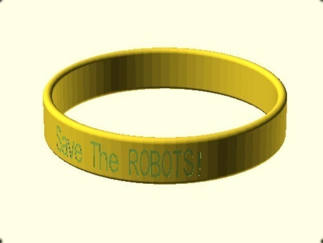 Cause Bracelet - Customizable 3D Print 151401