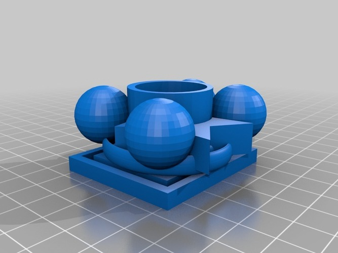xmas candle 3D Print 15147