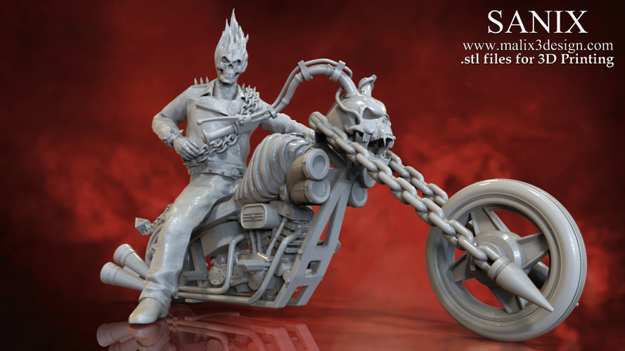 Ghost Rider - 3D Model for 3D Printing 3D Print 151601