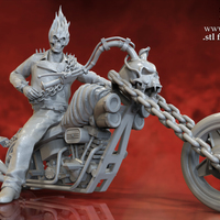 Small Ghost Rider - 3D Model for 3D Printing 3D Printing 151601