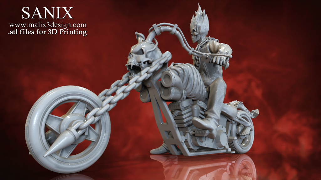 3D Printed Ghost Rider - 3D Model for 3D Printing by Sanix3 | Pinshape
