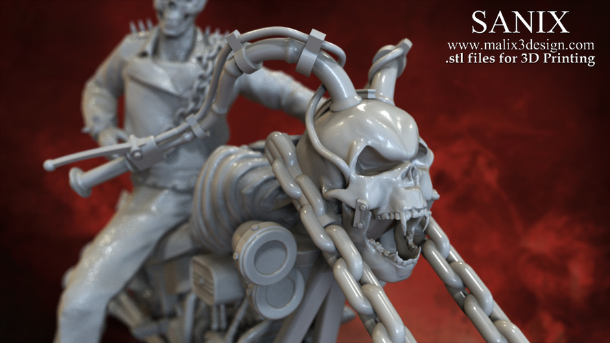 Ghost Rider - 3D Model for 3D Printing 3D Print 151606