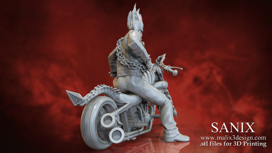 Ghost Rider - 3D Model for 3D Printing 3D Print 151608