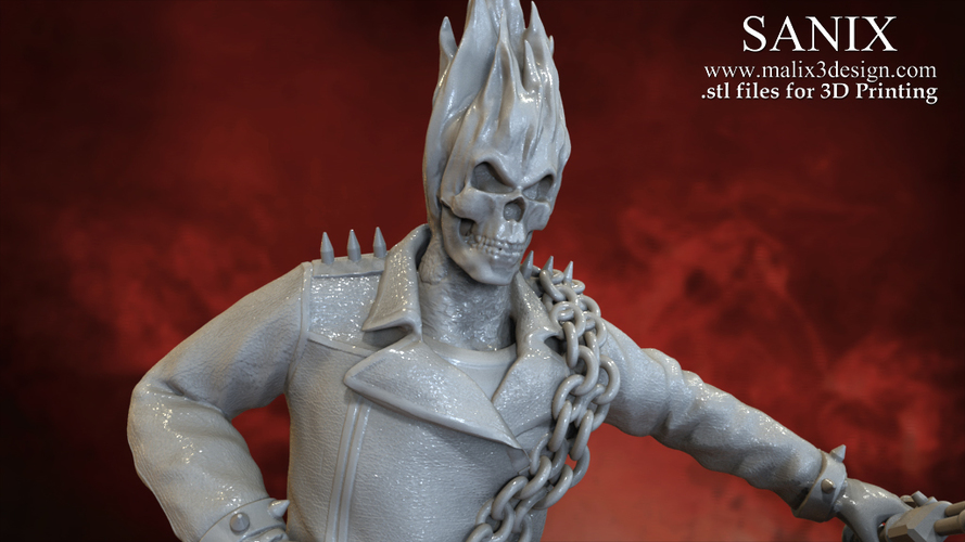 Ghost Rider - 3D Model for 3D Printing 3D Print 151609
