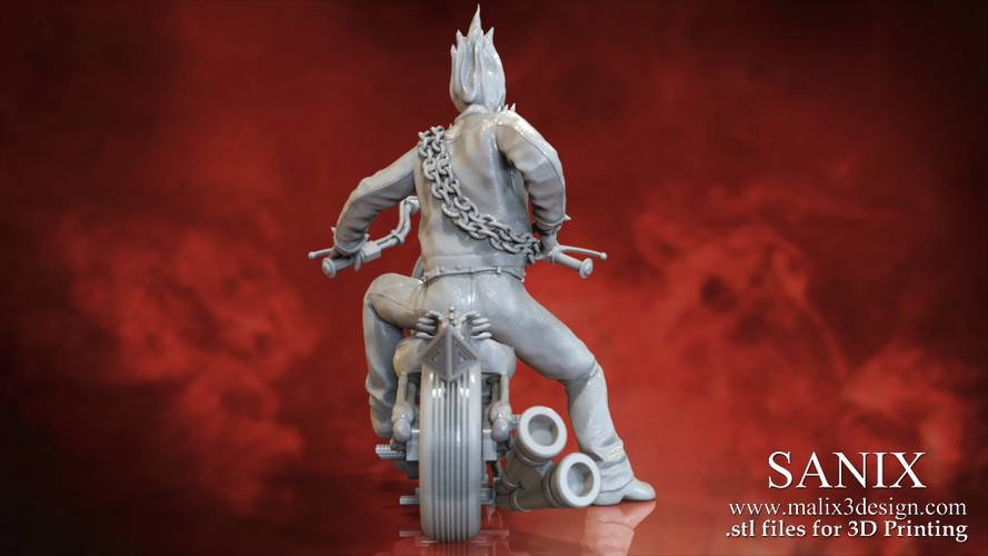 Ghost Rider - 3D Model for 3D Printing 3D Print 151610