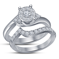 Small Bridal Ring Set 3D CAD Design In STL Format 3D Printing 151635