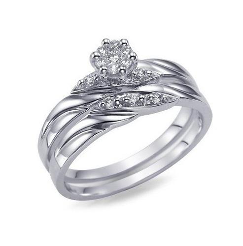 Jewelry Cad Model Beautiful Bridal Ring Set Print 151636