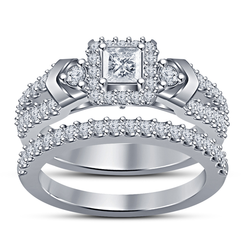 Exclusive Jewelry Design 3D CAD Model Of Wedding Bridal Ring Set 3D Print 151637