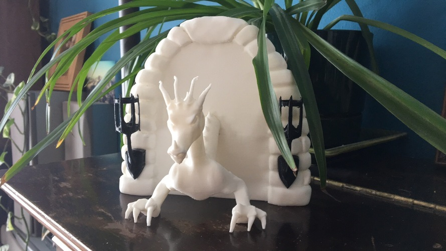 Dragon Book End 3D Print 151648