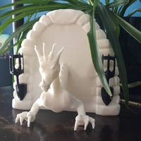 Small Dragon Book End 3D Printing 151648