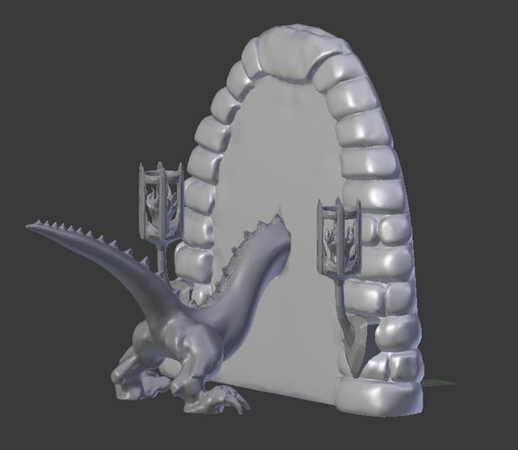 Dragon Book End 3D Print 151656