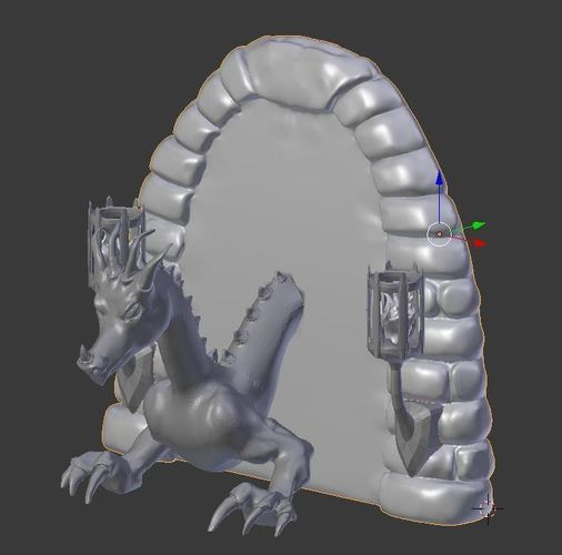 Dragon Book End 3D Print 151657