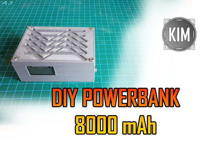 Small Powerbank 8000 mAh DIY 3D Print 151679