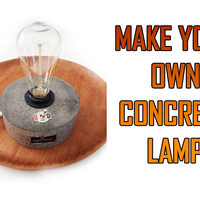 Small Concrete Lamp 3D Printing 151684