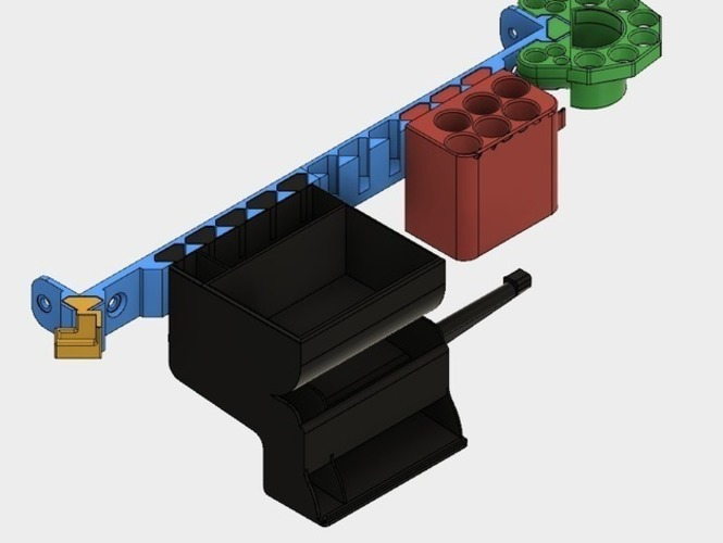 Diamond Back Rail System 3D Print 151772