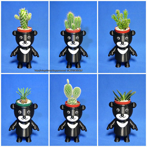BEAR BRAVO Potted plants 3D Print 151818