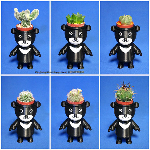 BEAR BRAVO Potted plants 3D Print 151819