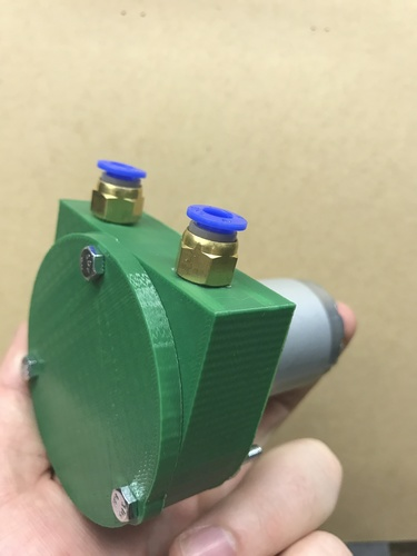 Nylon Vane Air Pump 3D Print 151837