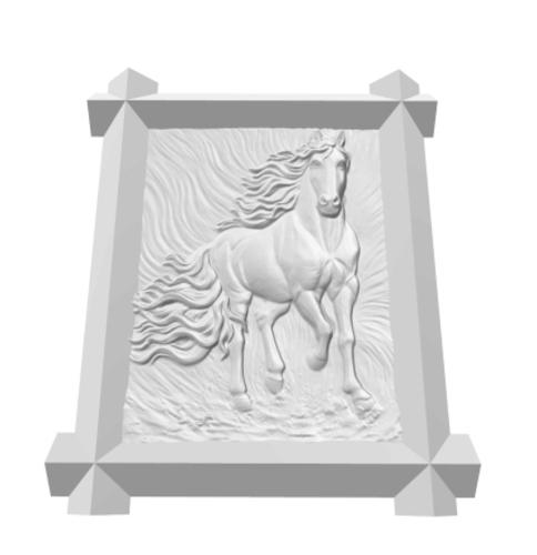 3D Printed Framed Horse by fragar | Pinshape