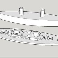 Small Battleship Replacement Game Piece 3D Printing 151841