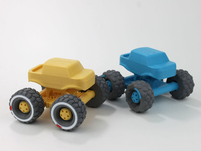 Mini Monster Truck With Suspension 3D Print 151933