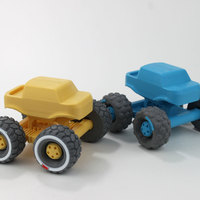 Small Mini Monster Truck With Suspension 3D Printing 151933