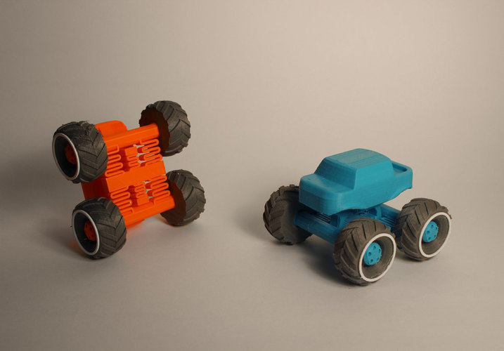 Mini Monster Truck With Suspension 3D Print 151934