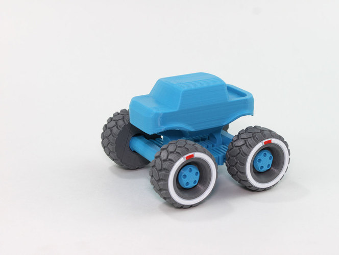 Mini Monster Truck With Suspension 3D Print 151935