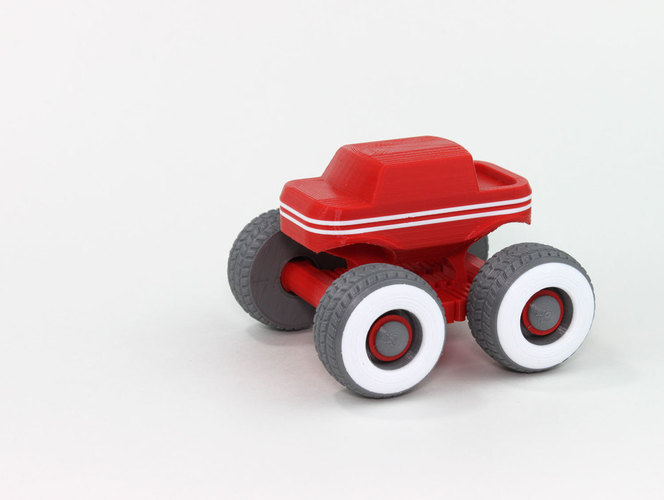 Mini Monster Truck With Suspension 3D Print 151936