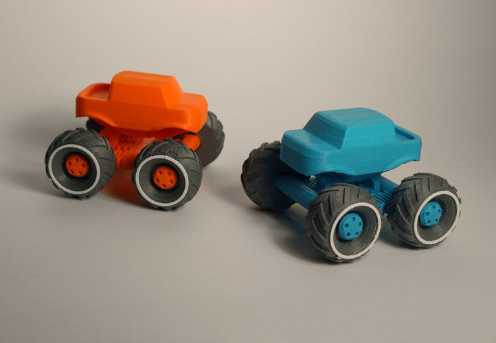 Mini Monster Truck With Suspension 3D Print 151937