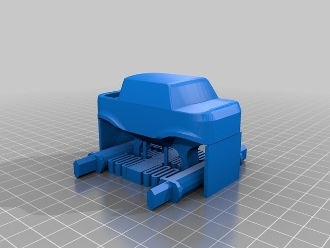 Mini Monster Truck With Suspension 3D Print 151939