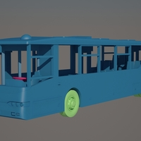 Small Bus Volzhanin 6270 3D Printing 151985