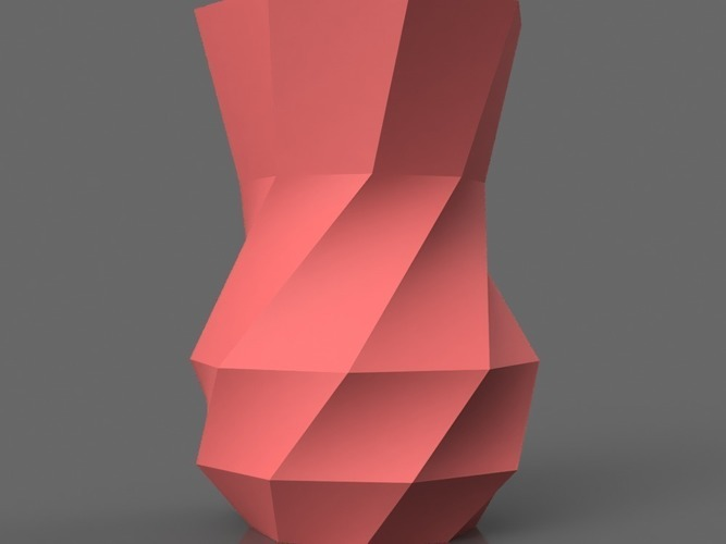 Faceted Vase  3D Print 152012