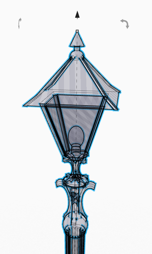 Old Fancy Street Lamp (remastered) 3D Print 152109