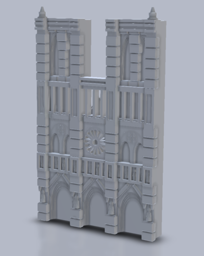 Notre Dame Cathedral - West Face 3D Print 152162