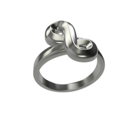 Small Infinity Ring 3D Printing 15220