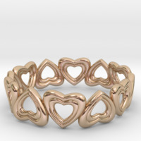 Small Hearts Bracelet 3D Printing 15228