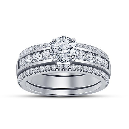 Jewelry 3D CAD Model Beautiful Bridal Ring Set 3D Print 152301