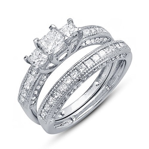 Beautiful Wedding Bridal Ring Set 3D CAD Model In STL Format 3D Print 152303