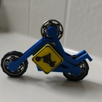 Small MOTORCYCLE STICKMAN FIDGET SPINNER 3D Printing 152412