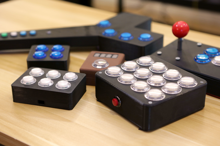 Arcade Button Controller Box 3D Print 152638