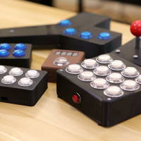 Small Arcade Button Controller Box 3D Printing 152638