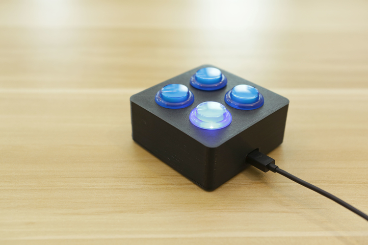 Arcade Button Controller Box 3D Print 152639