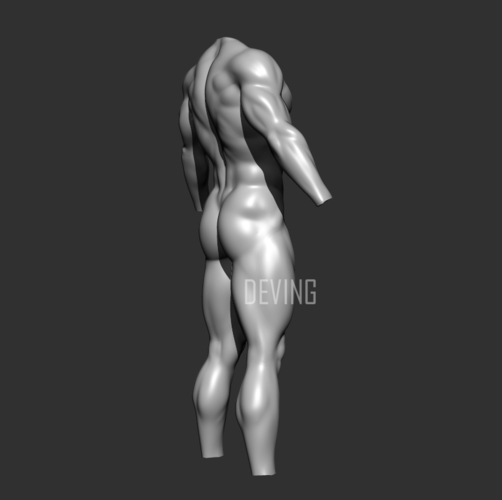 Batman muscle body for Muscle Suit Cosplay 3D Print 152651