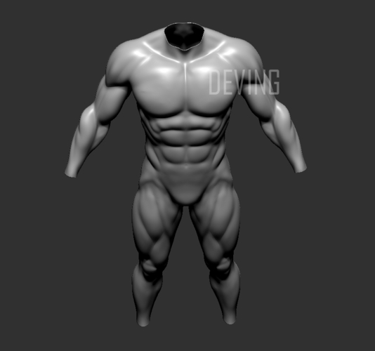 Batman muscle body for Muscle Suit Cosplay 3D Print 152652