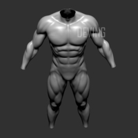 Small Batman muscle body for Muscle Suit Cosplay 3D Printing 152652