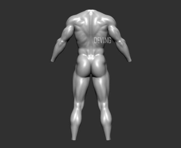 Batman muscle body for Muscle Suit Cosplay 3D Print 152653