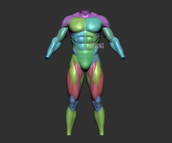 Batman muscle body for Muscle Suit Cosplay 3D Print 152655