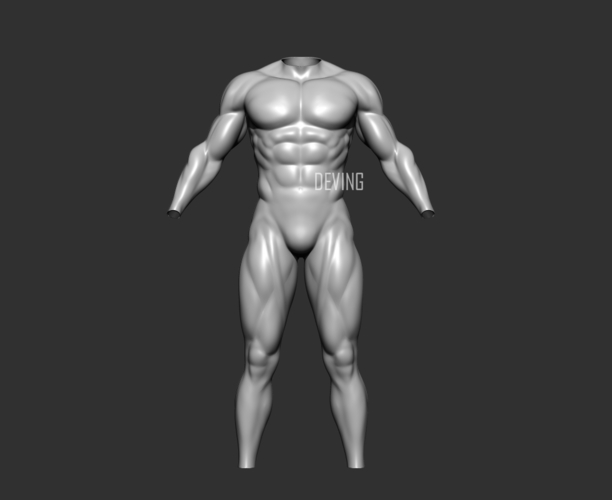Batman muscle body for Muscle Suit Cosplay 3D Print 152656